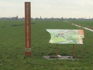 Den Haneker, bord in de polder